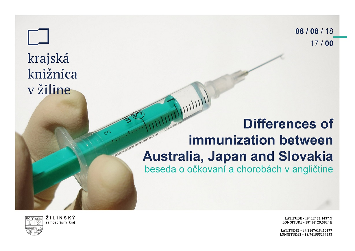 Differences of immunization between Australia, Japan and Slovakia