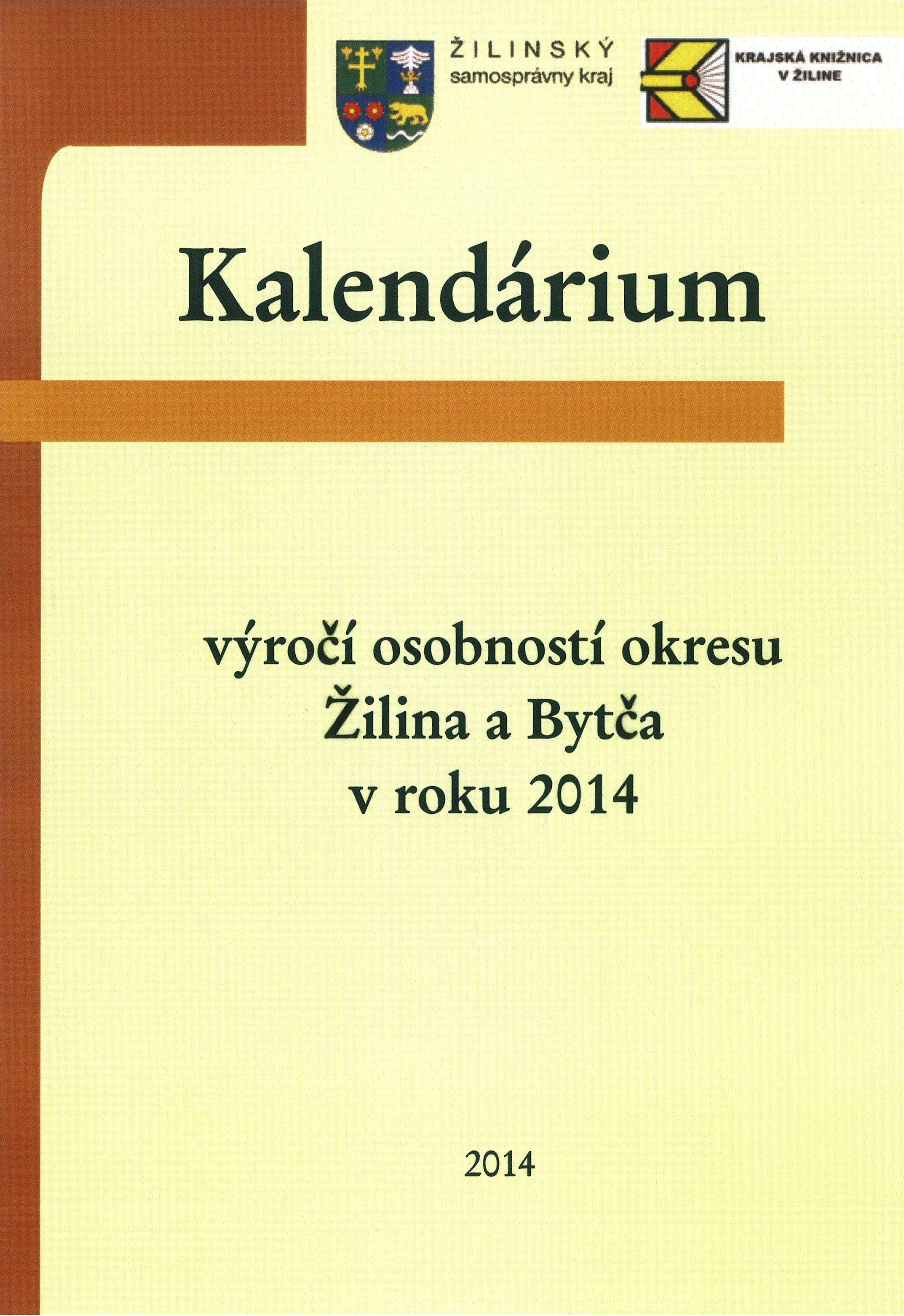 Kalendárium 2014