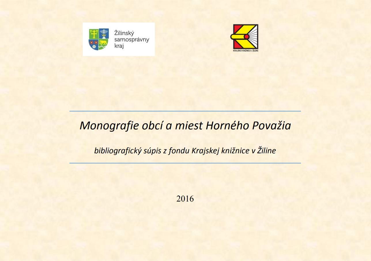 Monografia obcí Horného Považia