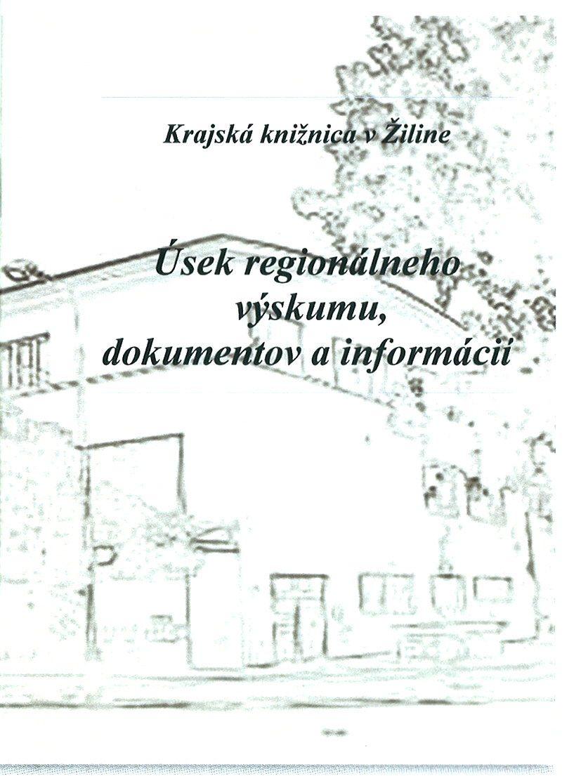 úsek regionálného výskumu, dokumentov a informácií